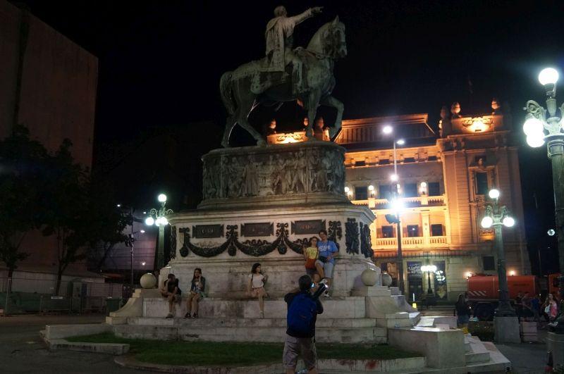Pomnik księcia Michała Obrenovicia (Kneza Mihailova) na Placu republiki w Belgradzie