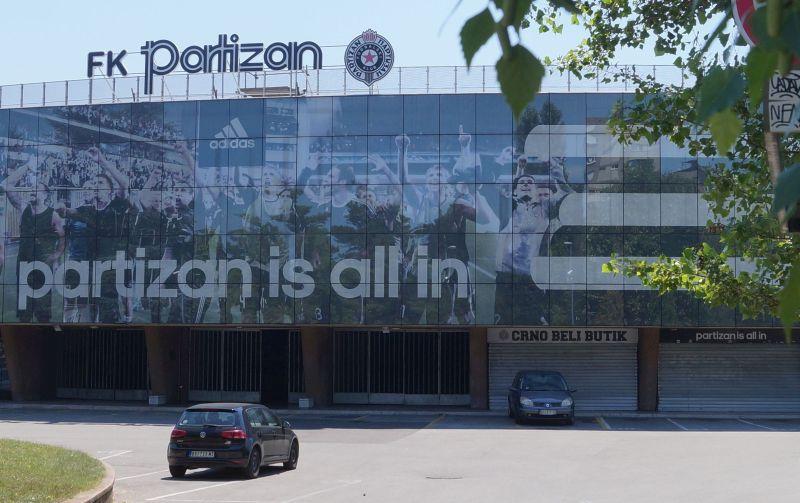 Stadion piłkarskiego klubu Partizan w Belgradzie