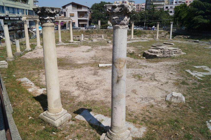 Pozostałości rynku z początków VI wieku