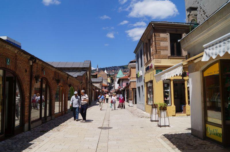 Uliczki starówki w Sarajewie