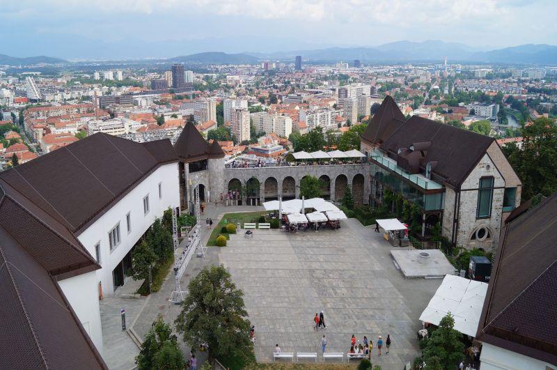 Dziedziniec zamku wLublanie
