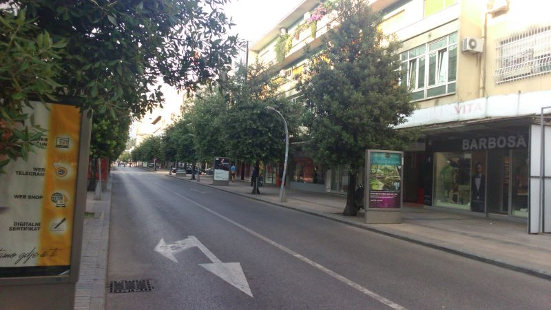 Ulica Slobode - główna ulica Podgoricy