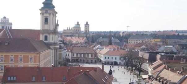 Panorama Egeru z zamku