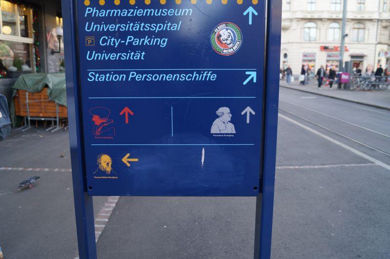 Oznakowanie ścieżek spacerowych w Grossbasel