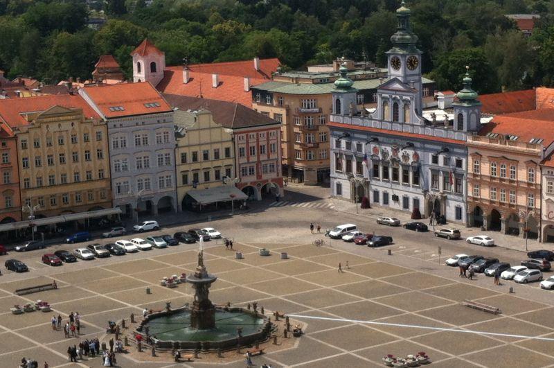 Widok na Rynek Przemysła Ottokara II z Czarnej Wieży