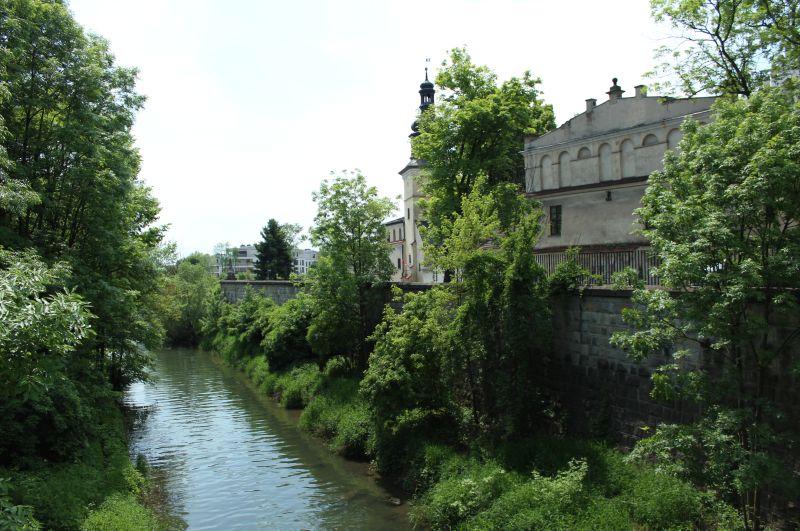 Rzeka Rudawa tuz przy ujściu do Wisły