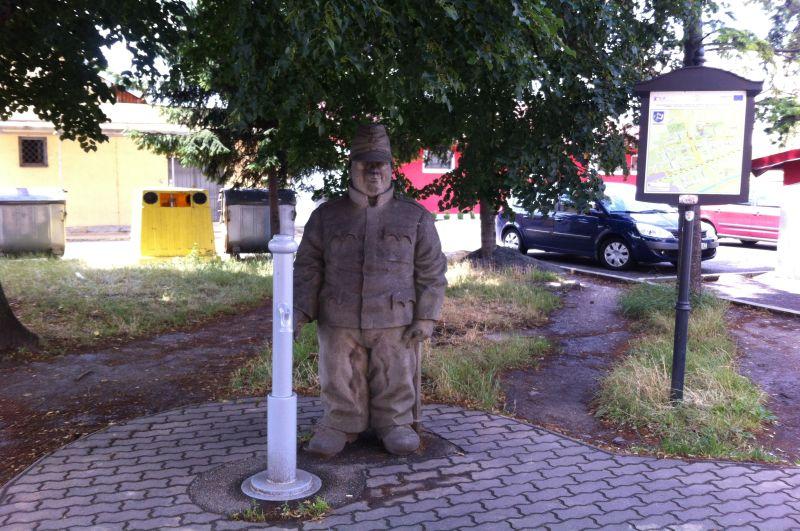 Pomnik Szwejka wsłowackiej miejscowości Humenne