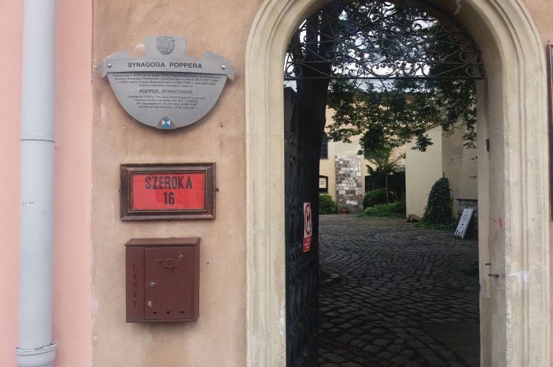 Synagoga Poppera przy ulicy Szerokiej 16