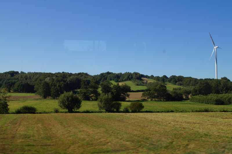 A z okien pociągu takie widoki