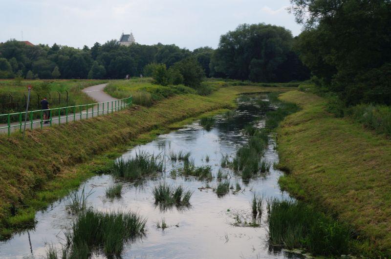Ścieżka rowerowa prowadząca do dzielnicy uzdrowiskowej