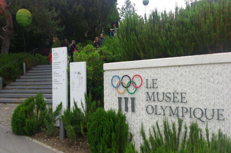 Wejście do Muzeum Olimpijskiego