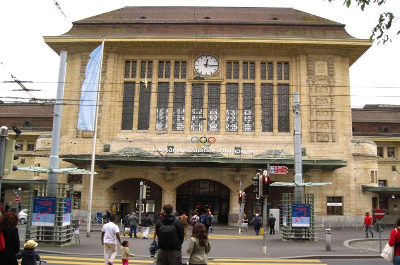 Dworzec kolejowy wLozannie