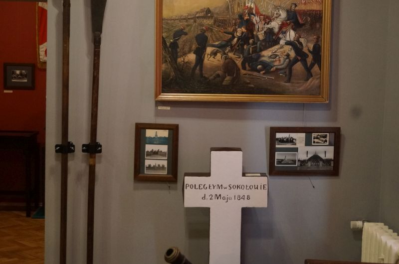 Pamiątkowy krzyż bitwy podSokołowem