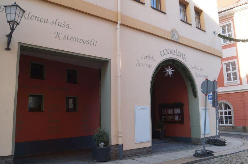 Serbołużycka restauracja Wjelbijk w Budyšinie (niem. Bautzen)