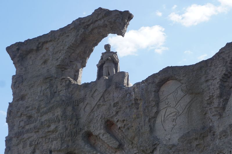 Jeden zdetali pomnika naWzgórzu Mamaja