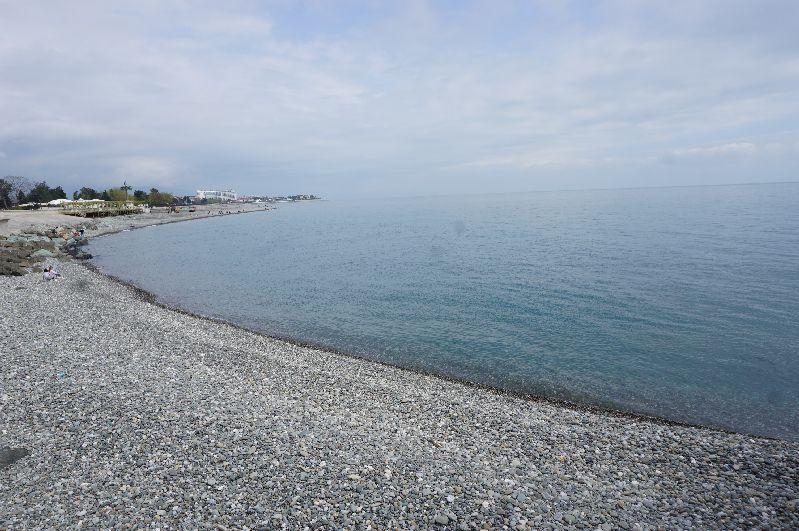 Plaża w Adlerze - jednym z miast Wielkiej Soczi