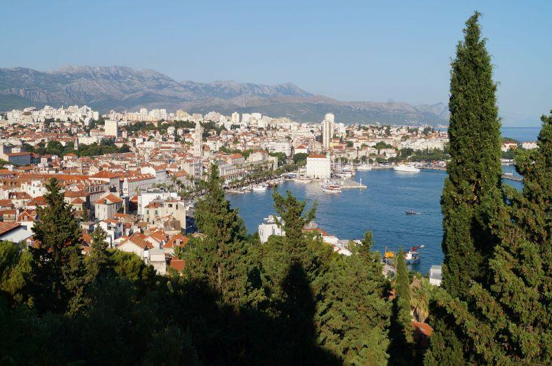Widok na Split ze wzgórza Marjan