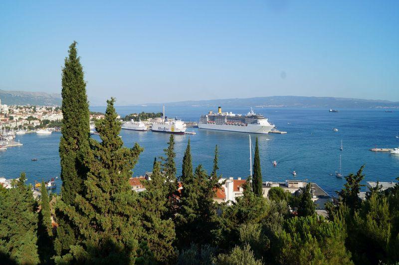 Panorama Adriatyku ze wzgórza Marjan