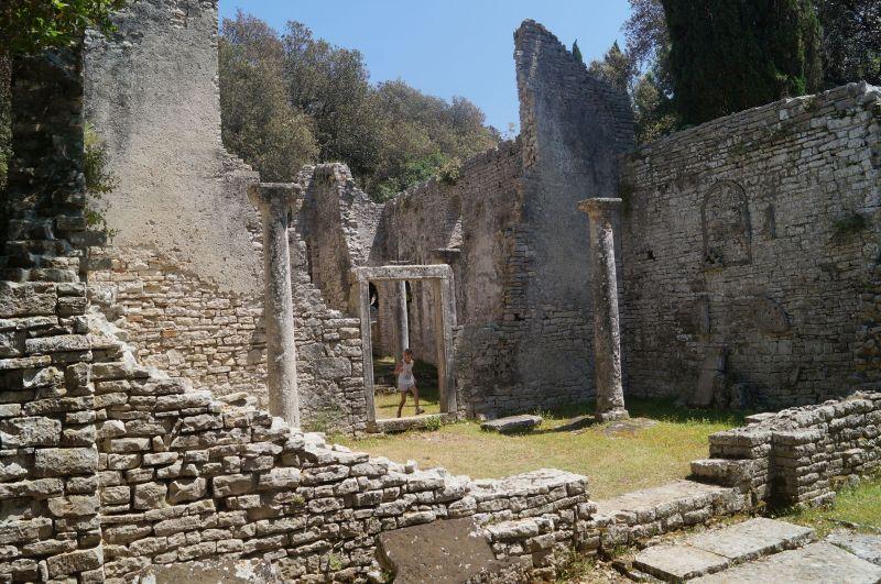 Pozostałości bazyliki Św. Marii nawyspie Veliki Brijun