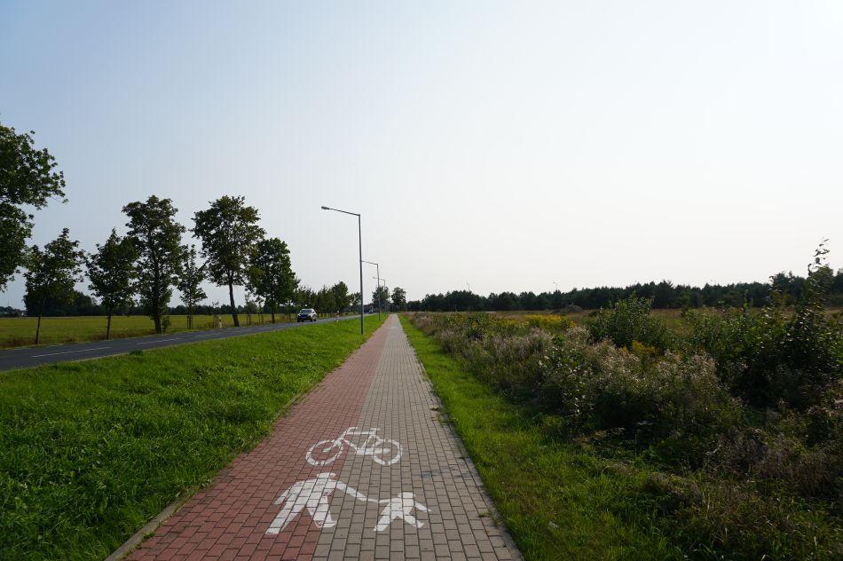 Ścieżka rowerowa wPiszu odpółnocy
