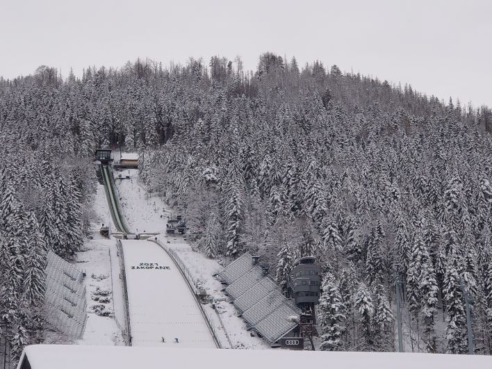 Wielka Krokiew zimą wZakopanem